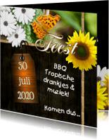 Uitnodigingen - Feest bloemen zelf aanpassen n