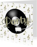 Jubileumkaarten - Feest muziek LP goud