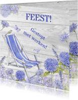 Uitnodigingen - feest pensioen stoel