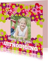 Kinderfeestjes - feestje roze bloemen - SZ