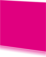 Blanco kaarten - Fel roze enkel vierkant