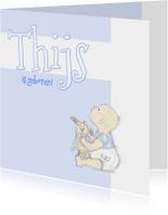 Felicitatiekaarten - Felicitatie baby met konijn
