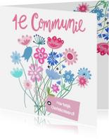Felicitatiekaarten - Felicitatie communie label