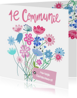 Felicitatie communie label