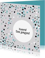 Felicitatiekaarten - Felicitatie Confetti blauw