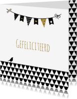 Felicitatiekaarten - Felicitatie -Driehoek en vlaggen