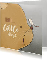 Felicitatiekaarten - felicitatie geboorte kat en muis