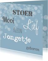 Felicitatiekaarten - Felicitatie Geboorte Mooi Lief