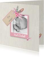 Felicitatiekaarten - Felicitatie geboorte veertjes