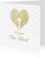 Felicitatiekaarten - Felicitatie goud hart