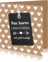 Felicitatiekaarten - Felicitatie Huwelijk - LB
