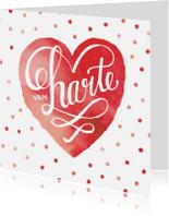 Felicitatiekaarten - Felicitatie huwelijk rood hart