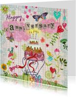 Felicitatiekaarten - Felicitatie Huwelijksjubileum Wolken