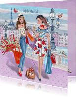 Verjaardagskaarten - Felicitatie Illustratie Parijs