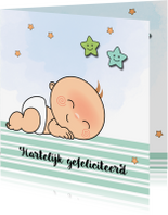 Felicitatiekaarten - Felicitatie jongen met luier