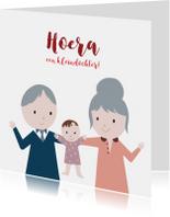 Felicitatiekaarten - Felicitatie kleindochter illustratie