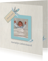 Felicitatiekaarten - Felicitatie kleinzoon veren