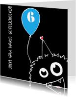 Verjaardagskaarten - Felicitatie monstertje Jongen