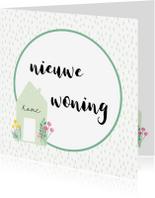 Felicitatiekaarten - Felicitatie nieuwe woning Flower