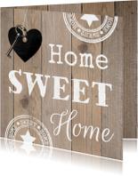 Felicitatiekaarten - Felicitatie nieuwe woning hout