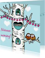 Felicitatiekaarten - Felicitatie nieuwe woning - treehouse