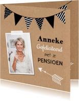Felicitatiekaarten - Felicitatie pensioen foto slinger Kraft