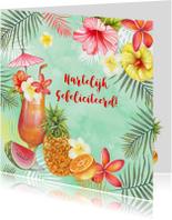 Felicitatiekaarten - Felicitatie tropische cocktail