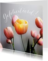 Felicitatiekaarten - Felicitatie tulpen schilderstijl