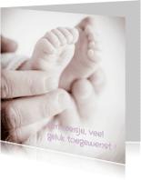 Felicitatiekaarten - Felicitatie  voetjes  lief - MM