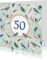 Verjaardagskaarten - Felicitatie vogels leeftijd