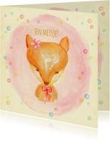 Felicitatiekaarten - Felicitatie vosje geboorte