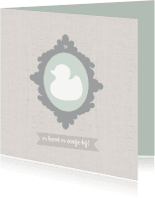 Felicitatiekaarten - Felicitatie zwanger linnen