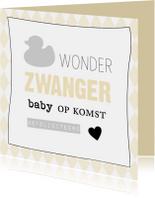 Felicitatiekaarten - Felicitatie zwanger pastel