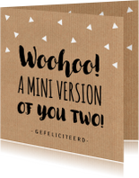 Felicitatie zwangerschap typografie kraftprint