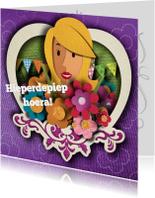 Felicitatiekaarten - Felicitatiekaart - bloemen