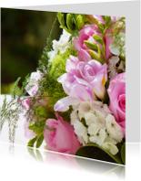 Felicitatiekaarten - Felicitatiekaart bruidsboeket