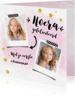 Felicitatiekaarten - Felicitatiekaart communie met foto's