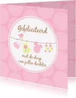 Felicitatiekaarten - Felicitatiekaart doop meisje