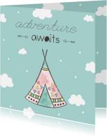 Felicitatiekaarten - Felicitatiekaart geboorte jongetje - Adventure Awaits