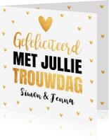 Felicitatiekaarten - Felicitatiekaart goud typografie