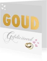 Felicitatiekaarten - Felicitatiekaart gouden huwelijk