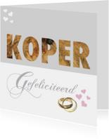 Felicitatiekaarten - Felicitatiekaart koper huwelijk