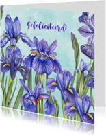 Felicitatiekaarten - Felicitatiekaart Lisse in aquarel