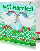 Felicitatiekaarten - Felicitatiekaart Lover Birds PA