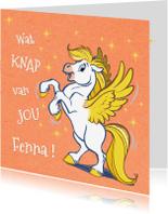 Felicitatiekaarten - Felicitatiekaart paardje Florian - A