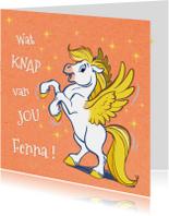 Verjaardagskaarten - Felicitatiekaart paardje Florian - A