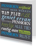 Felicitatiekaarten - Felicitatiekaart pensioen tekst vrolijk
