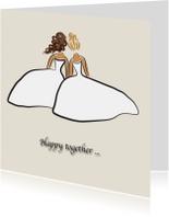 Felicitatiekaarten - Felicitatiekaart samen is het fijn