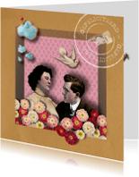 Felicitatiekaarten - Felicitatiekaart  Vintage Love