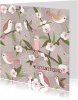 Felicitatiekaarten - Felicitatiekaart Vogelbloesem